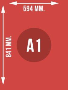 Format A1 wymiary w mm.