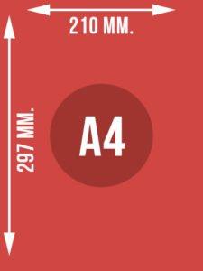 Format A4 wymiary w mm.