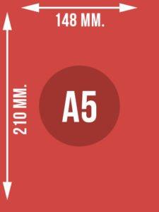 Format A5 wymiary w mm.