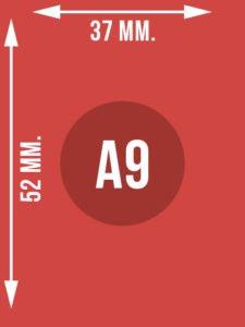 Format A9 wymiary w mm.