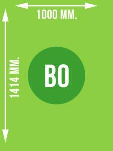 Format B0 wymiary w mm.
