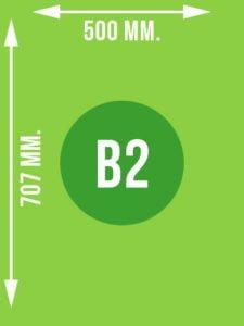 Format B2 wymiary w mm.