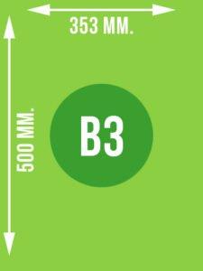 Format B3 wymiary w mm.