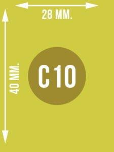 Format C10 wymiary w mm.