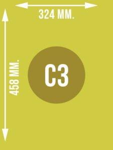 Format C3 wymiary w mm.