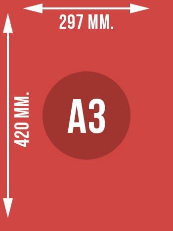Format A3 wymiary w mm.