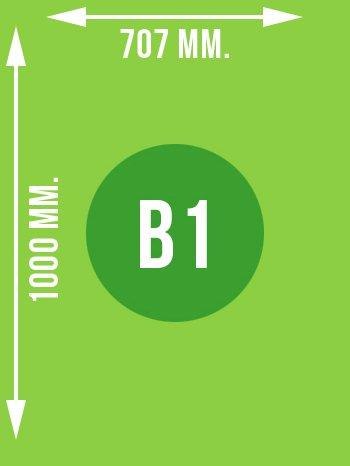 Format B1 wymiary w mm.
