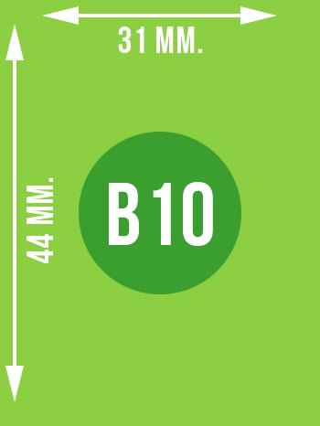 Format B10 wymiary w mm.