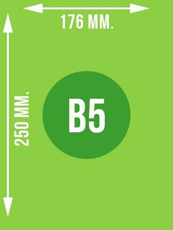 Format B5 wymiary w mm.