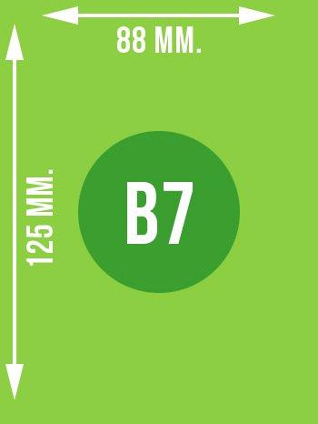 Format B7 wymiary w mm.