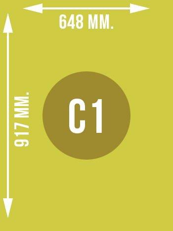 Format C1 wymiary w mm.