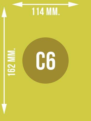 Format C6 wymiary w mm.