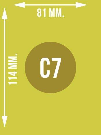 Format C7 wymiary w mm.
