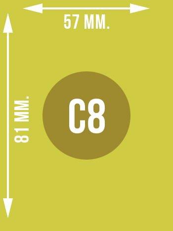 Format C8 wymiary w mm.