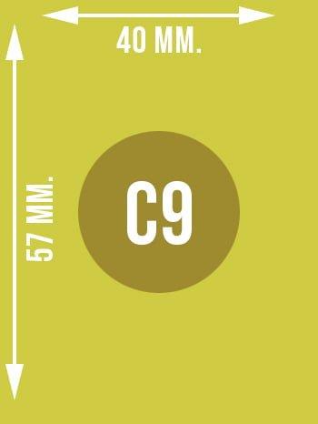 Format C9 wymiary w mm.