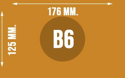 Wymiary koperty w formacie B6