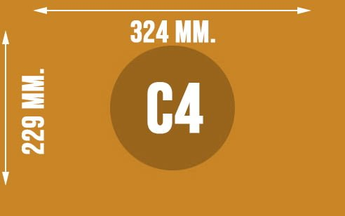 Wymiary koperty w formacie C4