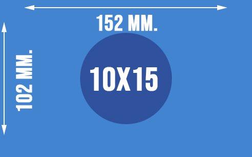 Dokładne wymiary papieru fotograficznego 10x15